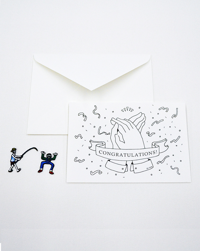 【GREETING CARD+WAPPEN】モノクロ