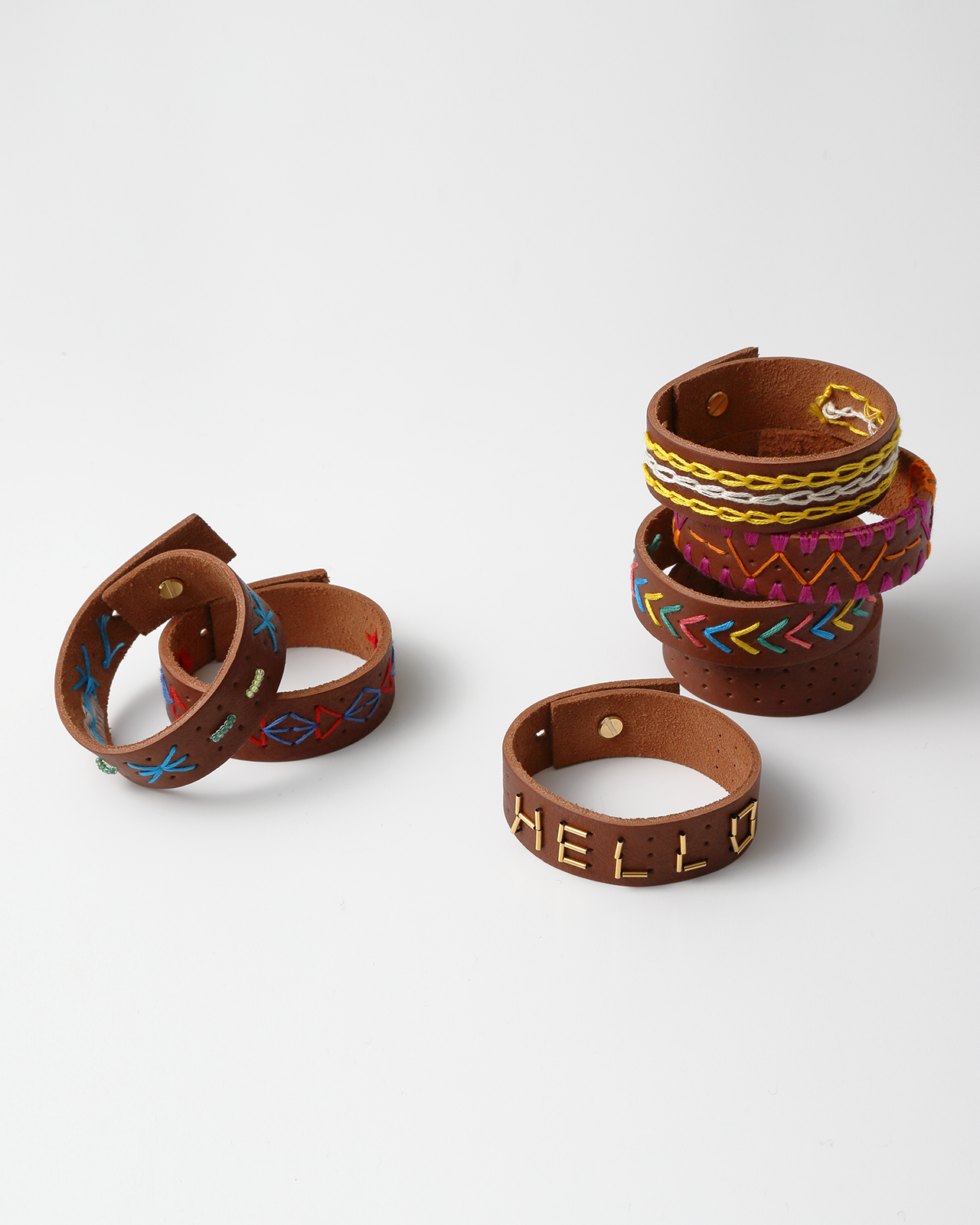 EMBROIDERY LEATHER BRACELET KIT