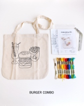 EMBROIDERY ILLUSTRATION TOTE BAG KIT