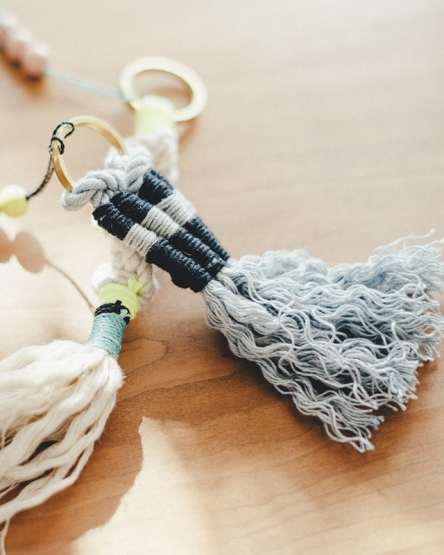 Macrame Charm  LUC-KEY HOLDER